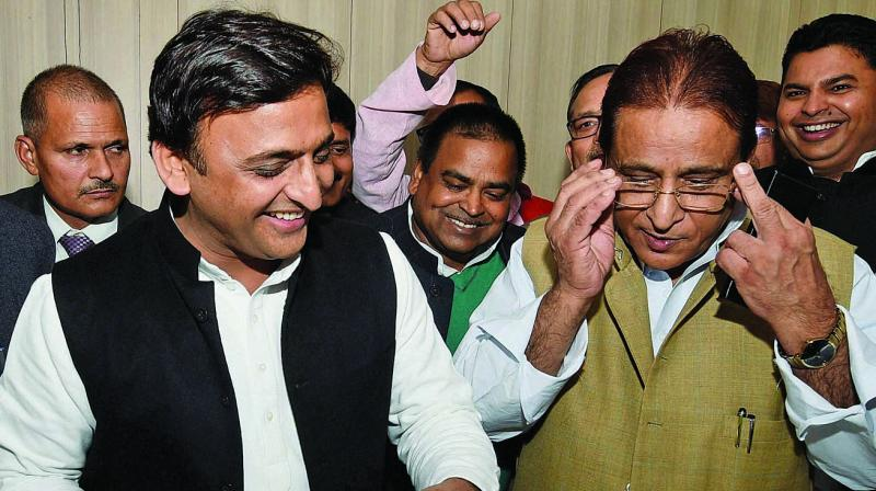 Azam Khan and his son Abdullah Azam, a Samajwadi Party legislator, are facing a number of cases, including those of land encroachment and trespassing. (Photo: PTI)