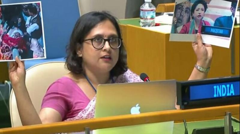 India abstained from voting on the resolution, with First Secretary in India's Permanent Mission to the UN Paulomi Tripathi, in the explanation of vote, saying that incorporating capital punishment into the scope of this resolution 'raises concerns that it may be an attempt to place it on par with torture.' (Photo: ANI)