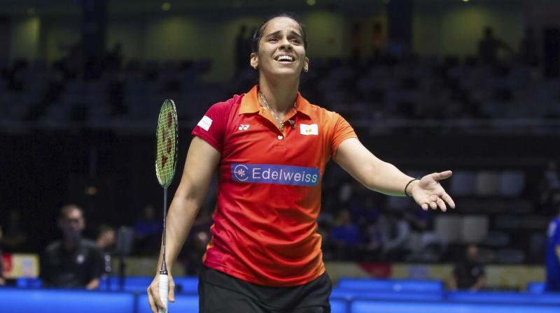 A frustrated Saina Nehwal said that her father's support is crucial for her during matches and tagged Commonwealth Games Federation in her tweets. (Photo: AP)