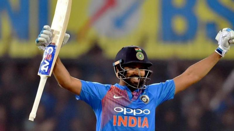 Rohit Sharma's 85-run innings eviscerated Bangladesh to give India an 8-wicket win. (Photo: AFP)