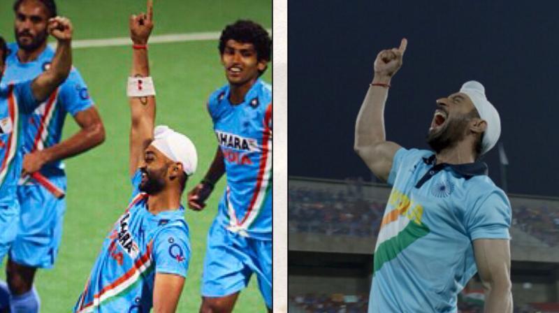 Sandeep Singh in real; Diljit Dosanjh in 'Soorma'.
