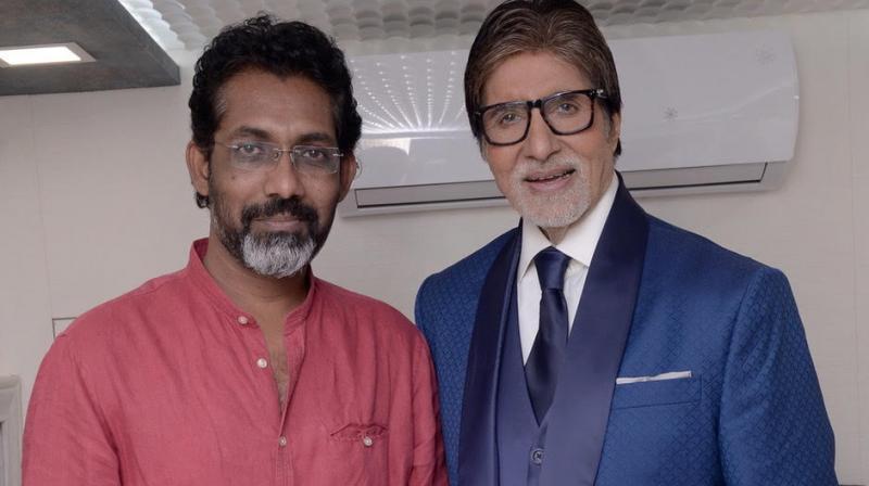 Nagraj Manjule with Amitabh Bachchan.