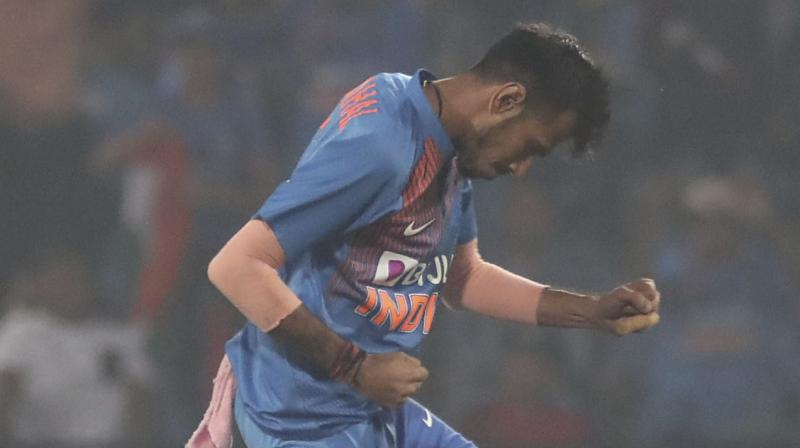 During the third and final T20I match, Yuzvendra Chahal surpassed Jasprit Bumrah to become the fastest Indian bowler to scalp 50 T20I wickets. The leggie registered the feat after he bowled out Bangladesh Captain Mahmudullah Riyad for 8. (Photo:AP)
