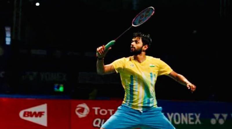 Indian shuttler B Sai Praneeth overcame Canada's Jason Anthony Ho Shue 21-17, 21-16 to enter Round 2 of the BWF World Championship in Switzerland. (Photo: Twitter/BAI Media)