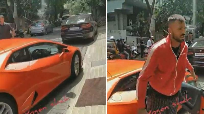 Though both the Pandya brothers haven't shared anything on their social media accounts regarding the car, a couple of users have shared images and video of them driving the supercar. (Photo: Instagram)