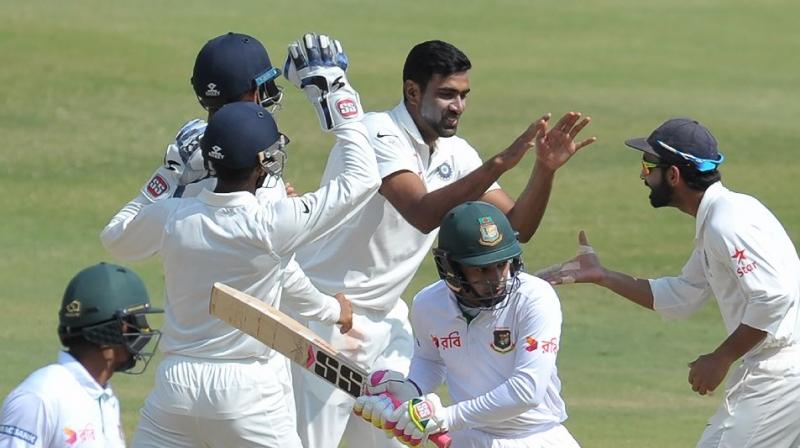 The second Test match between India and Bangladesh will be played under lights if Bangladesh Cricket Board (BCB) approves the Board of Control for Cricket in India's (BCCI) request. (Photo:AFP)