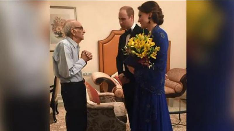 Boman Kohinoor was the star of a social media campaign in 2016 when his dream came true. He met Prince William and his wife Kate during their week-long trip to India and Bhutan. (Photo: Screengrab)