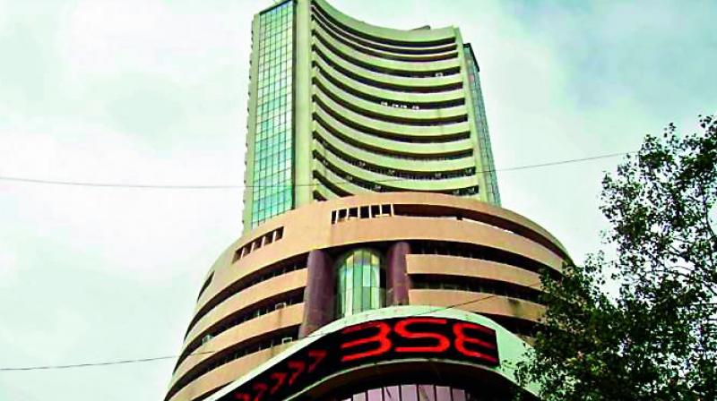 The broader NSE Nifty scaled an all-time high of 12,430.50, up 12,430.50 points or 0.63 per cent.