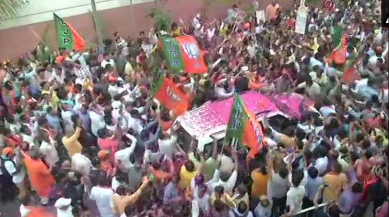 Senior BJP leader and Minority Affairs Minister Sushma Swaraj on Thursday congratulated Prime Minister Narendra Modi. (Photo: File)