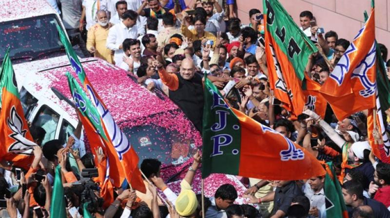 Amit Shah took over as the BJP president soon after NDA emerged victorious in 2014 general elections. (Photo: AP)