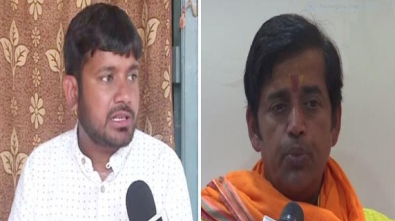Actor-turned-politician Ravi Kishan who registered victory from Gorakhpur Lok Sabha seat for the BJP, slammed former JNU Students Union president Kanhaiya Kumar who was decimated by BJP's Giriraj Singh in Begusarai. (Photo: ANI)