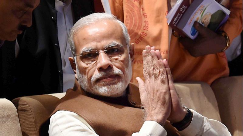 Prime Minister Narendra Modi during BJP parliamentary party meeting in New Delhi. (Photo: PTI)
