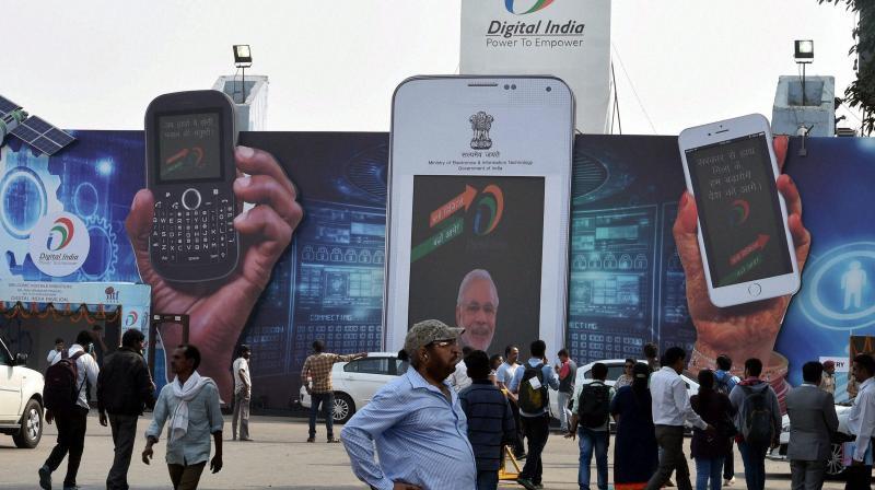 A view of Digital India Pavilion at the 36th India International Trade Fair (IITF-2016) at Pragati Maidan in New Delhi on Monday. (Photo: PTI)