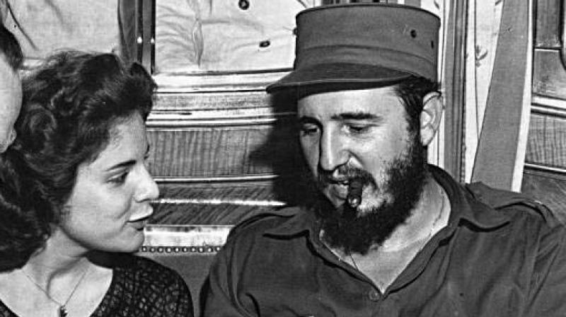 Marita Lorenz with Fidel Castro. (Photo: AP)