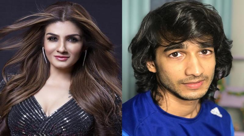 Raveena Tandon and Shantanu Maheshwari. (Photo: Instagram)