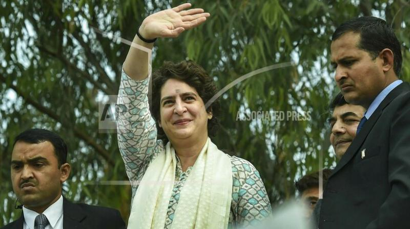 Priyanka Gandhi Vadra made her political debut on Monday with a roadshow drawing thousands in Uttar Pradesh, India's most populous state. (Photo:PTI)