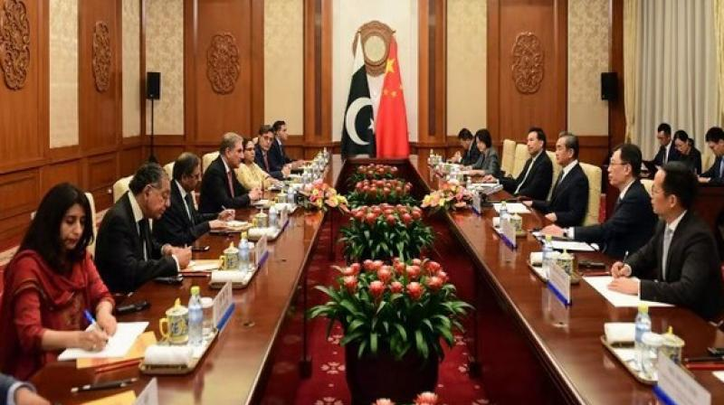 The Chinese Foreign Minister urged both India and Pakistan to properly resolve historical grievances and avoid any action which could further escalate tensions in the region and seek a new path to peaceful co-existence.  (Photo: SM Qureshi's twitter)