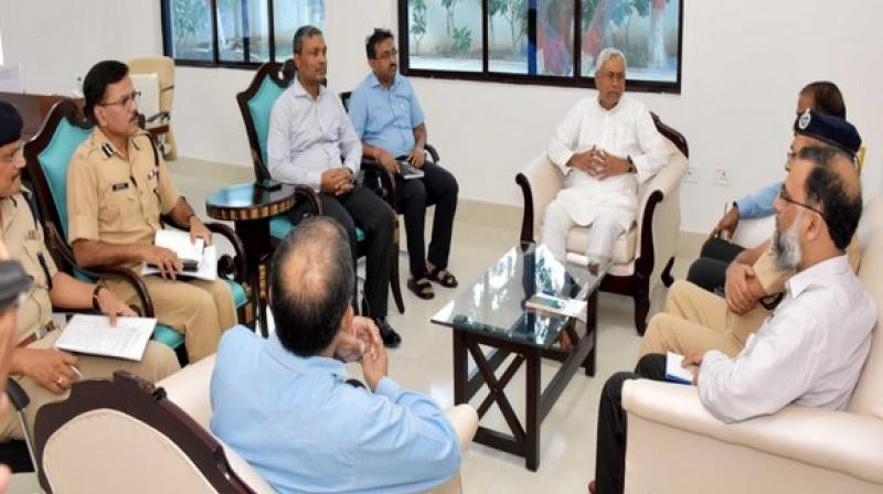 Kumar also instructed the Chief Secretary and DGP to hold a video-conference with district officials and SPs on August 10 to review the situation. (Photo: ANI)