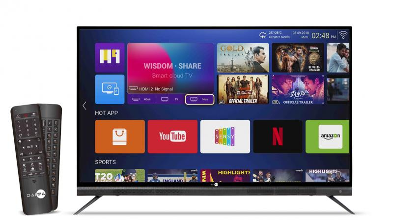 The 65-inch Daiwa TV comes with Android version 7.0 with 1GB RAM + 8GB internal storage.