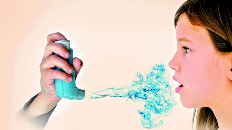 The symptoms of an asthma attack are the same in any season.