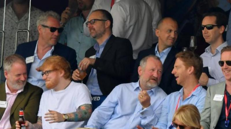 Gareth Southgate, England's football coach was also seen cheering on the team in the stands. (Photo: england cricket/twitter)