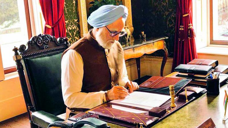 Stills from the movie The Accidental Prime Minister