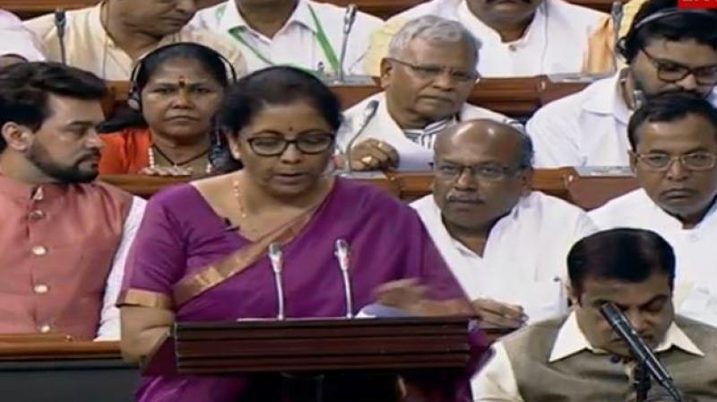 Finance Minister Nirmala Sitharaman presented Union Budget for Modi 2.0 government. (Photo: ANI | Twitter)