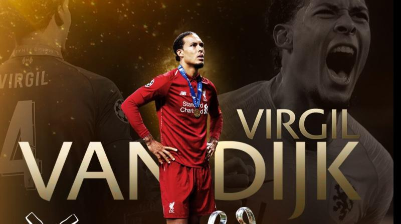 Earlier in the year, Van Dijk had won PFA Players' Player of the Season, Liverpool Players' and Fans' Player of the Season. (Photo: UEFA Champions League/Twitter)