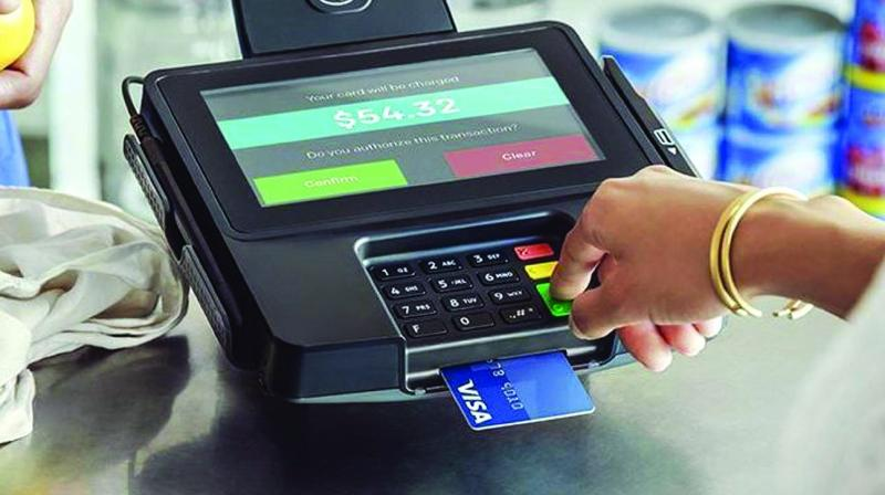 The number of debit cards started falling after hitting a high of 998 million in October 2018.