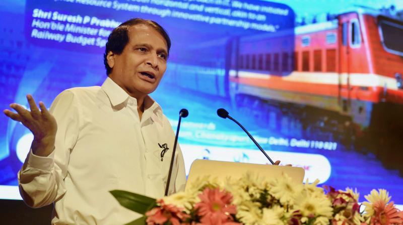 Union Minister for Railways Suresh Prabhu (Photo: PTI)