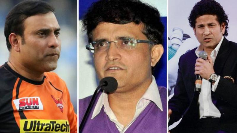 The CAC comprising Sachin Tendulkar, VVS Laxman and Sourav Ganguly had come under the scanner with conflict of interest allegations being levelled against them in complaints before the BCCI Ethics Officer D K Jain. (Photo: AFP)