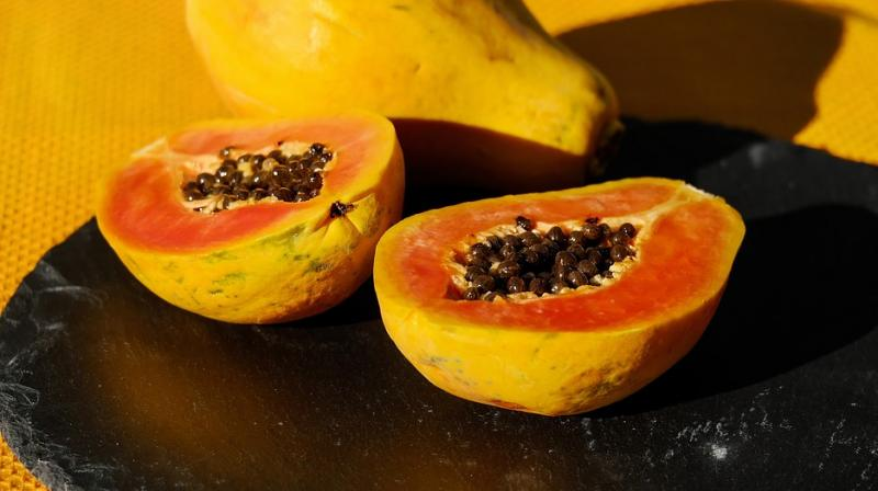 Papaya is a natural bleaching agent and helps correct skin darkening and discolouration. (Photo: Representational/Pixabay)