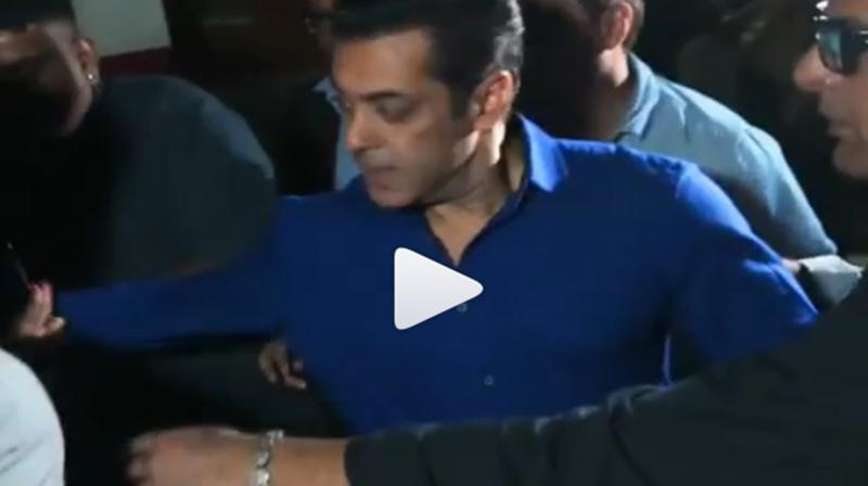 Video: Salman Khan gets irritated when girl fan tried to pull him at HAHK screening