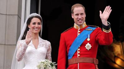 The Duchess's iconic wedding dress is her most prominent white dress, made by her favourite designer, Alexander McQueen. (Photo: Instagram @KensigntonRoyal)