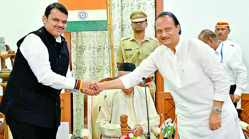 Leader of Opposition and former Maharashtra chief minister Devendra Fadnavis claimed on Saturday that it was NCP leader Ajit Pawar who approached him to form a government in Maharashtra. (Photo: File)