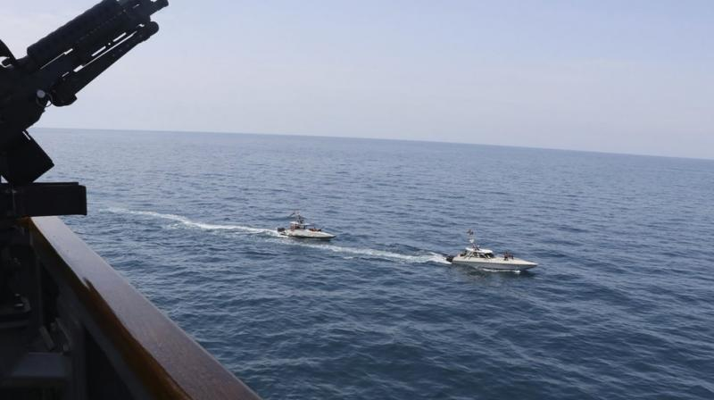 A group of 11 Iranian naval vessels made