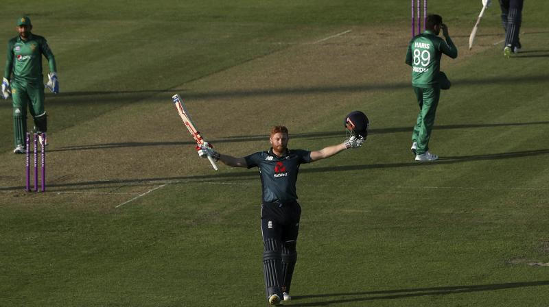 He smashed 128 from 93 balls after sharing a 159-run first wicket stand with Jason Roy, launching the hosts to their second-highest successful ODI run chase. (Photo: AP)