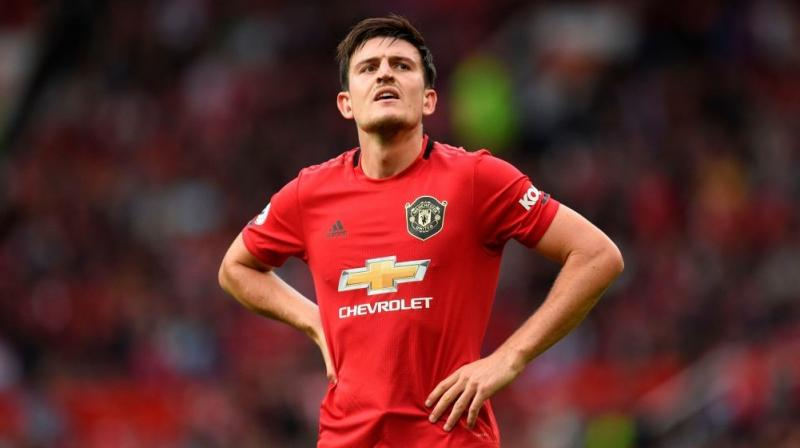 Harry Maguire faces his old club Leicester for the first time this weekend with the Manchester United defender looking up the Premier League table at his high-flying former employers. (Photo:AFP)