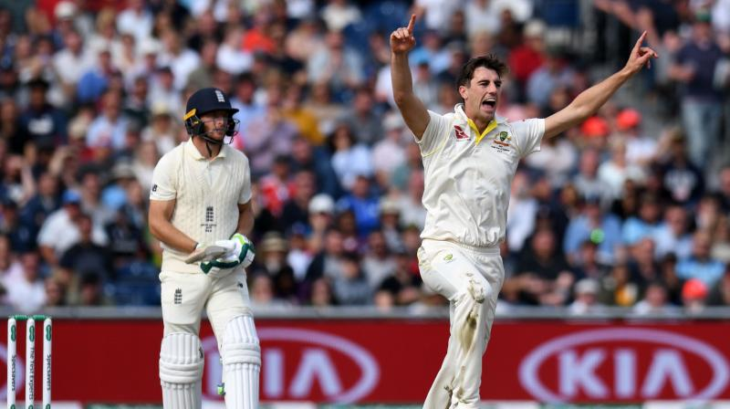 The Australians, who have retained the Ashes, dropped England captain Joe Root three times as he made 57 but the hosts failed to take full advantage and only Jos Buttler's late unbeaten 64 saved them from complete collapse. (Photo:AFP)