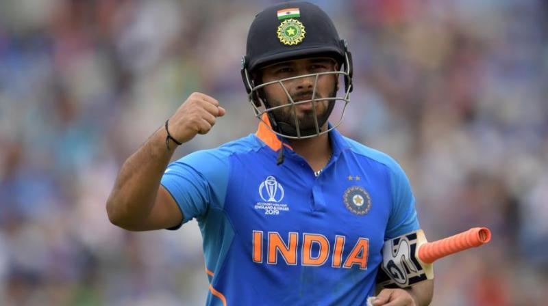 An average of 22.90 in ODIs and 21.57 in T20s doesn't do justice to the kind of talent, flamboyant left-hander Rishabh Pant possesses and his impetuous shot selection is an indication that he is getting ahead of himself, feels 48-year-old Lance Klusener. (Photo:AFP)