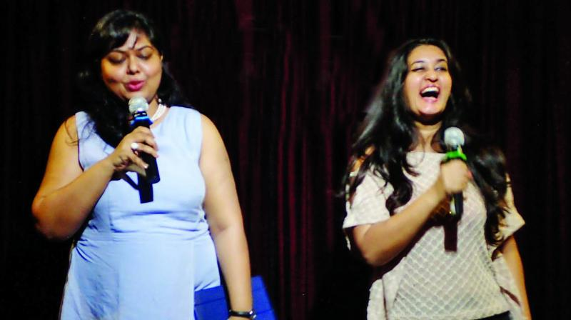 Smita Sahay and Kajol Srinivasan, founders of 2 Brown Bards