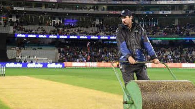 Test cricket can be pleasing to the eye if it is played on good pitches, batting great Sachin Tendulkar said on Sunday, terming the 22-yard strip the longest format's 'heart' and key to its revival. (Photo:AFP)