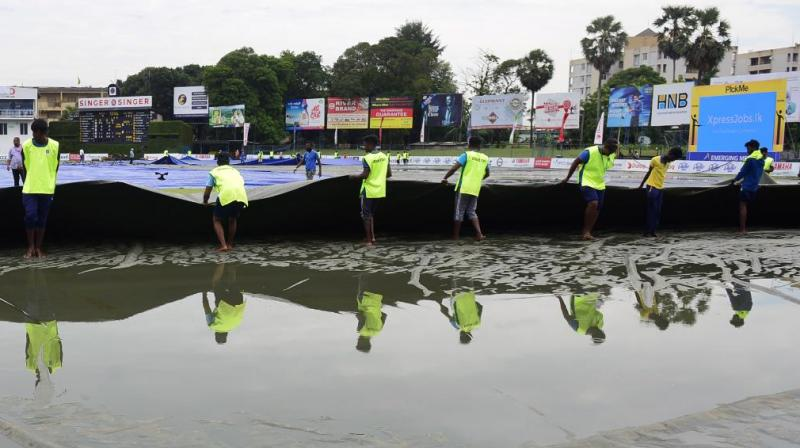 Rain has delayed the start of the third day's play of the second and final Test between Sri Lanka and New Zealand in Colombo on Sunday. (Photo: ICC/Twitter)