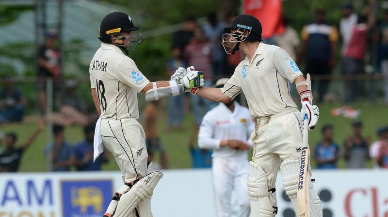 Tom Latham, who made 154, and BJ Watling, batting on 62, put on 143 runs for the fifth wicket to frustrate the Sri Lankan bowling attack that made early inroads in to the Kiwi batting on day three. (Photo:AFP)