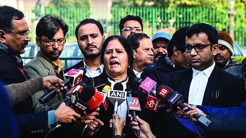Advocate Vrinda Grover after the SC's verdict in New Delhi on  Friday. (Photo: PTI)
