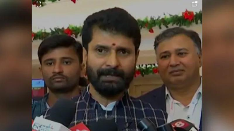 """Ravi, the tourism minister, purportedly made the statement while responding to a question by reporters supposedly on Wednesday regarding Congress MLA U T Khader's recent statement that Karnataka will """"blow up in cinders"""" if the Citizenship Amendment Act is implemented. (Photo: File)"""