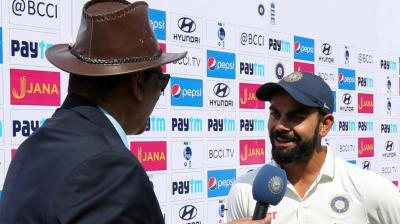 Virat Kohli was adjudged Man of the Match for scoring 248 runs in India's 246-run win over England in Vizag. (Photo: BCCI)