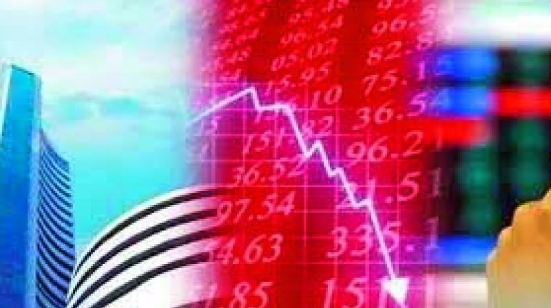 After the volatile trade, Sensex and Nifty closed in the red as the investors remained cautious on economy concerns. The Sensex closed at 37451.84 falling 189.43 points, or 0.50 per cent, while the Nifty shed 59.25 points, or 0.53 per cent, ending at 11046.10.