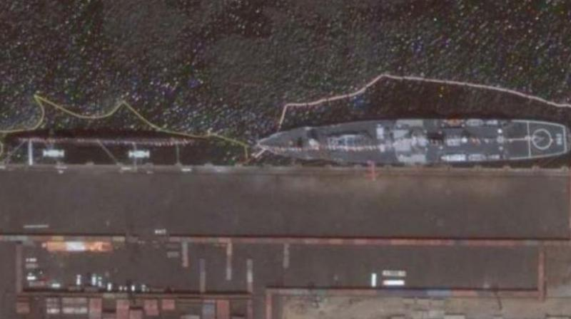 The image can be accessed by clicking on the historical imagery icon on Google Earth and scrolling back to May, 2016, said the report. (Photo: Twitter)