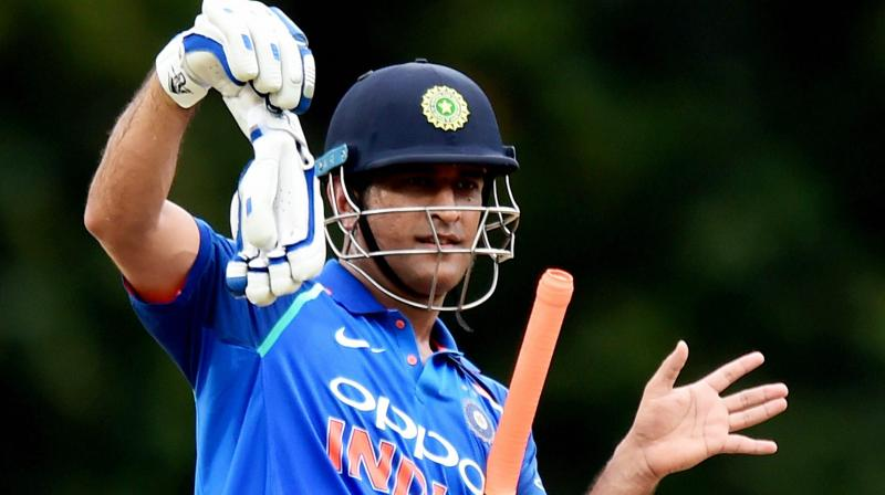 Earlier, the veteran wicket-keeper batsman was seen donning the 'Balidan' (sacrifice) badge on his glove during India's first World Cup match against South Africa on June 5. (Photo: PTI)